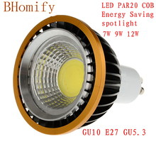 цена на LED spot COB Spotlights PAR20 Bulb 220V 110V dimmable GU10 GU5.3 E27 7W 9W 12W bulb LED  Lamps Warm/Pure/Cold White Spot light