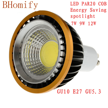 LED spot COB Spotlights PAR20 Bulb 220V 110V dimmable GU10 GU5.3 E27 7W 9W 12W bulb  Lamps Warm/Pure/Cold White Spot light