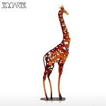 Tooarts New Brand Metal Figurine Iron braided Giraffe Vintage Home Decor Giraffe Handicrafts Home Decoration Accessories