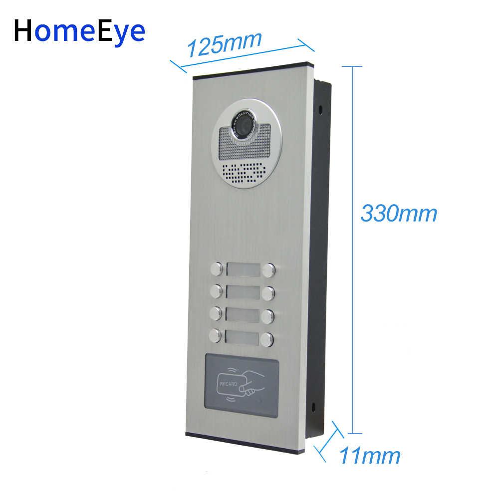 HomeEye 8 家族ドアアクセス制御システム 4.3 ''株式会社 4 線マルチ家族マルチアパートビデオドア電話インターホン