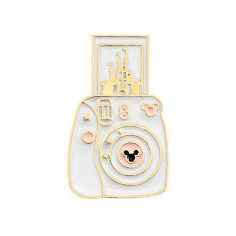 Cartoon Cute Camera Castle Shape Alloy Brooch Lightweight Clothes Pin Badge Enamel Lapel Dresses Hat Scarf Decor Accessory in Brooches from Jewelry Accessories