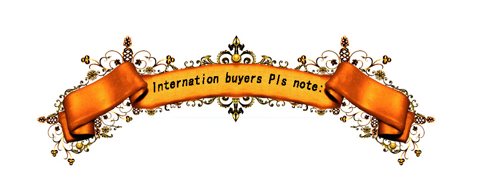 Internation buyers pls note