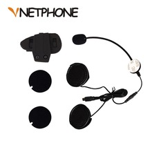 2017 реальные Casco штекер Mini-USB микрофон динамики гарнитуры и шлем домофон клип для мотоцикла устройства Bluetooth Vnetphone V8