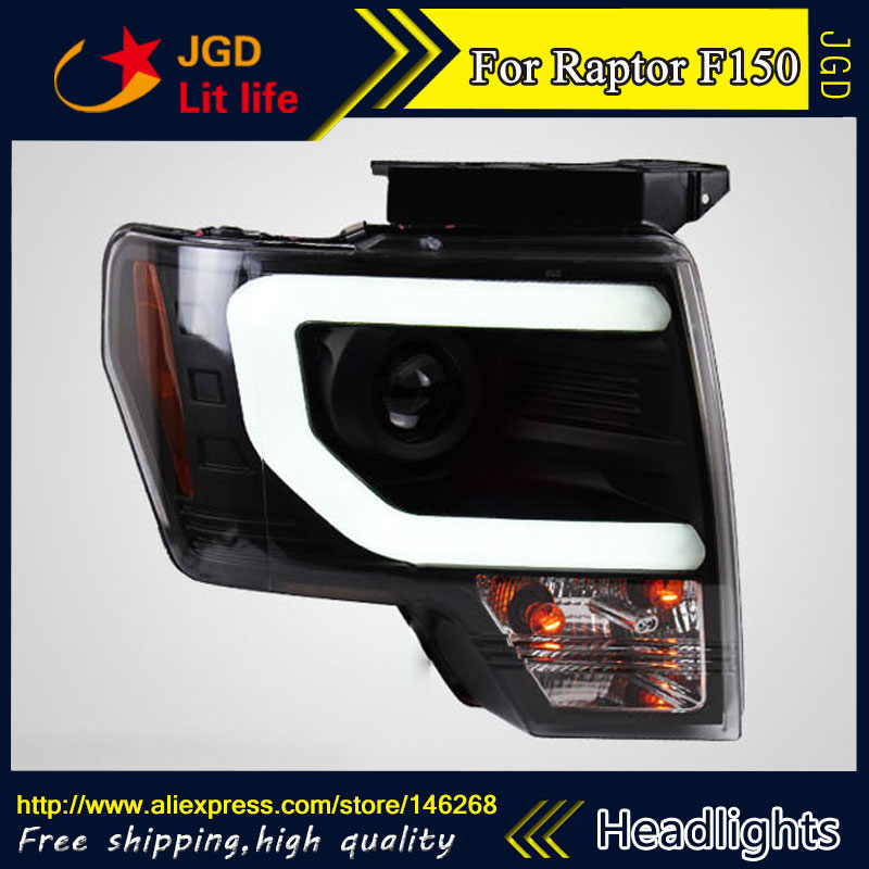 Free shipping ! Car styling LED HID Rio LED headlights Head Lamp case for Ford Raptor F150 2011-2014 Bi-Xenon Lens low beam akd car styling for kia k2 rio headlights 2011 2014 korea design k2 led headlight led drl bi xenon lens high low beam parking