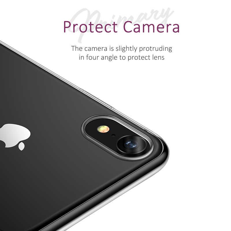 USAMS TPU чехол для iPhone X XS Max XR Прозрачный чехол для iPhone 7 для телефона 8 6 5 5S SE ультра тонкий чехол для телефона