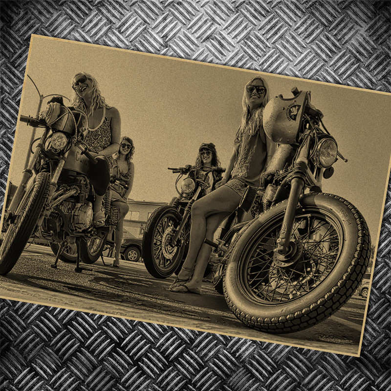 SEXY LADY Motorcycle Route 66 Movie Poster vintage Wall Kraft Paper Posters Bar/Cafe Wall sticker paint Art decor 42x30cm image