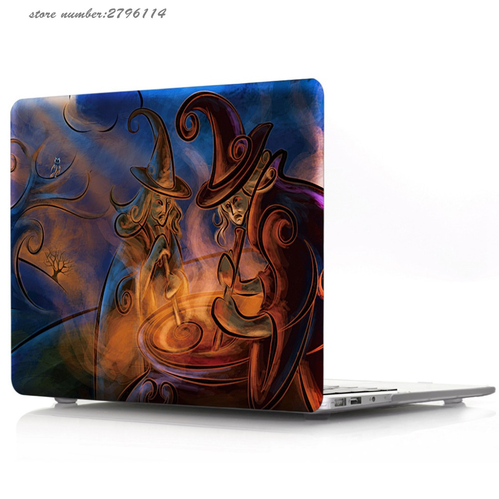 Frosted Hard Printed Case Cover For Macbook Pro 13 15 Retina/New Mac 12 Colorful Ink Water Laptop Case For Macbook Air 11 13