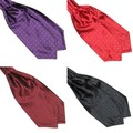 Hot Fashion Polka Dot Men Long Silk Cravat Ascot Ties Handkerchief Gentlemen