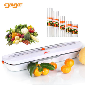 CYMYE Еда контейнер вакуумные герметик QH02 + 5 шт. пластиковый ролик 220 V в том числе 10 сумки можно использовать для Еда saver Sous-Vide