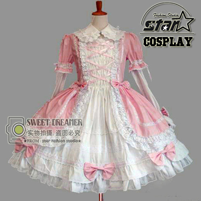 New Fashion Gothic Royal Cosplay Costume Anime Halloween Party Ball ...
