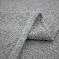 Imported soft fleecy elastic knitting cashmere wool compound lace fabric for coat dress telas por metros tissu au metre tecido