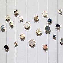 Brass handle Nordic furniture minimalist pearl shell wardrobe door drawer Shoe cabinet American single hole pure copper handle