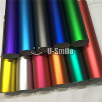 Various Colors Grey Rose Satin Champagne Gold Vinyl Car Wrap Matte Chrome Decorative Vinyl Film Bubble Free For Vehicle Decal