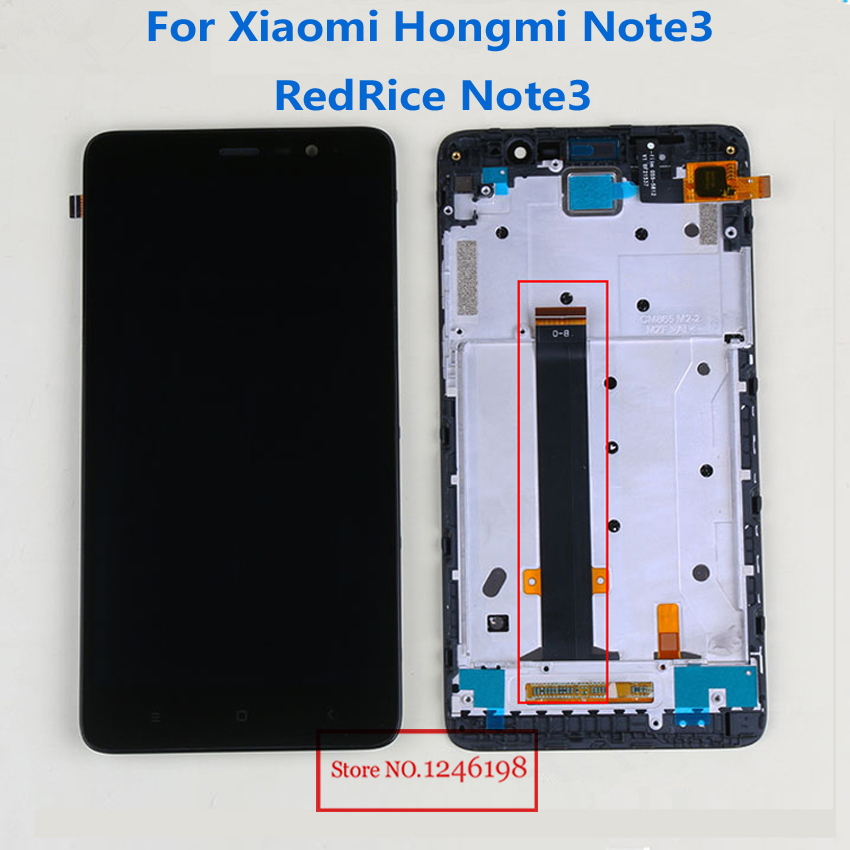 Red Mi Note 3 LCD Display Touch Screen Panel Digitizer Assembly with Frame For Xiaomi Hongmi