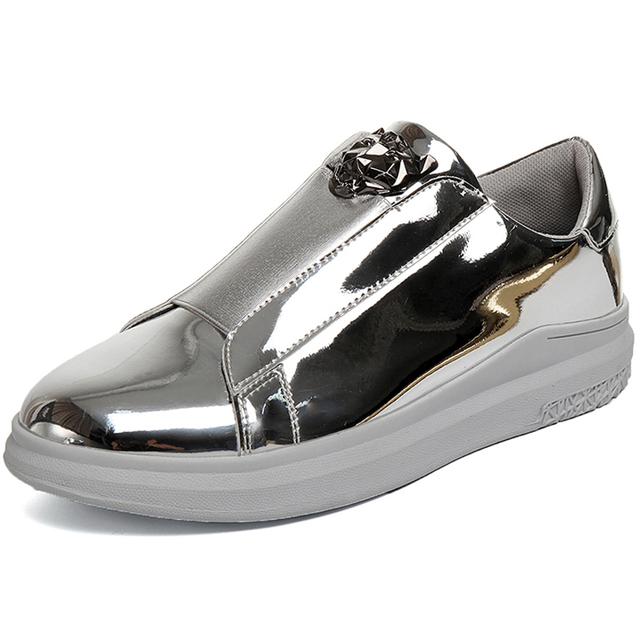 Gold Wedge Male designer Platform Shoes
