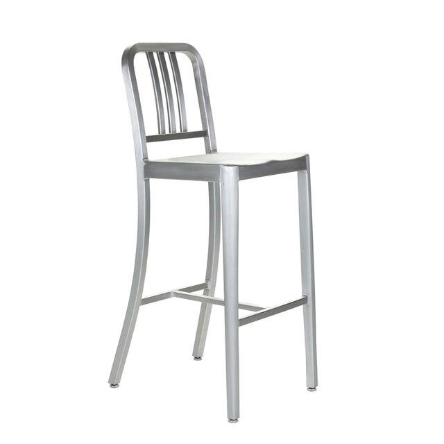 Aluminum Bar Stool Bar Chair Classic Navy Coffee Chair Metal Highchair  Highchair KTV Aluminum Navy Chair