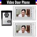7-дюймовый дверной звонок для видеодомофона  система дверного звонка из алюминиевого сплава  комплект видеодомофона  2 монитора  1 Дверная ка...