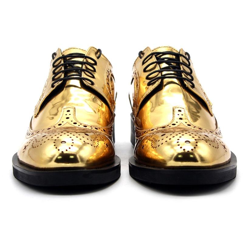 Hommes Or Up Richelieu Cuir 100 Chaussures Bout Taille Noce En Classique Pour Lace Véritable La Gold Plus Oxford Pointu Designer vYdx1wn6q