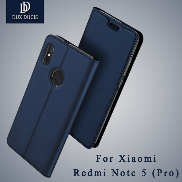 sports shoes 4e30b 25539 US $8.99 30% OFF|Dux Ducis Cover For Xiaomi Redmi Note 5 Pro Case Leather  Cover Xiaomi Redmi Note5 Prime Wallet Flip Cover Xiaomi Note 5 Pro Case-in  ...