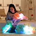 Новое поступление 50 см красочный светящийся плюшевые собаки светящиеся кукла плюшевые игрушки детские игрушки дети спят успокоить куклы подарки