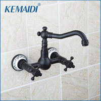 Shivers Bathtub Faucet Torneira Wall Mounted Oil Rubbed Black Bronze 97112 Bathroom Basin Sink Faucet Mixers