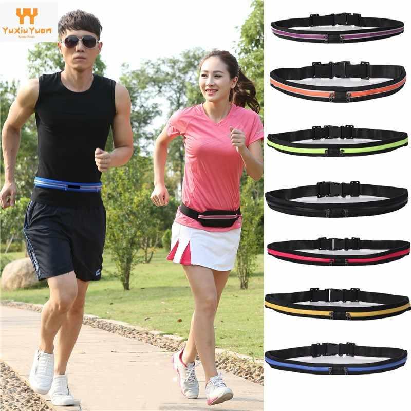 Pochete esportiva impermeável para corrida e ciclismo, bolsa de cintura feminina impermeável com alça, para celular, 2020 cintura,