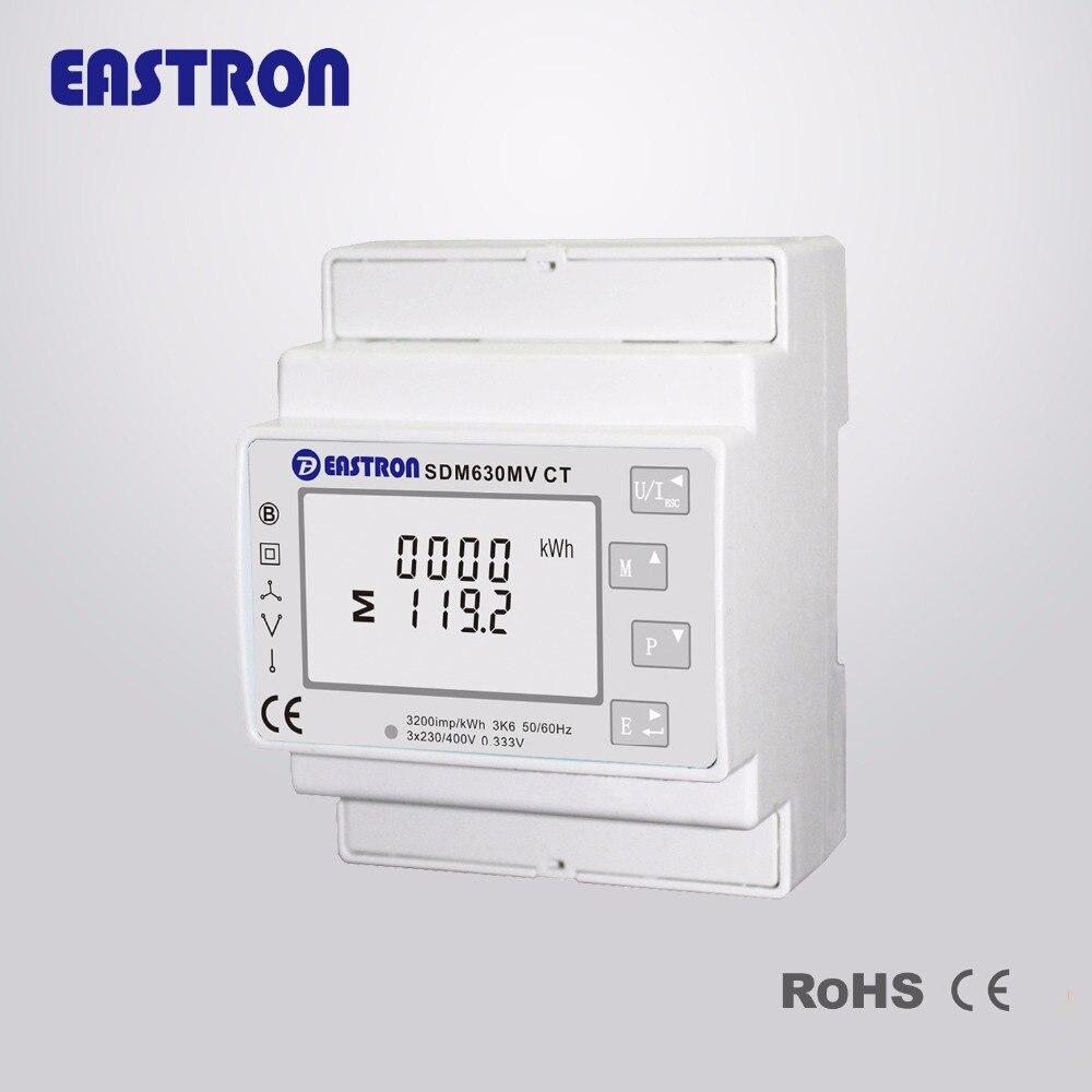SDM630MV CT, 0,333 в CT, 220 В/230 В, Многофункциональный измеритель, трехфазный измеритель энергии на DIN-рейке, анализатор мощности (DIN-рейка)
