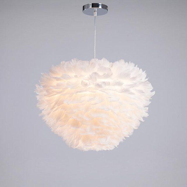 Moderne Luci A Sospensione Lampada Piuma shades Decor Lampade ...