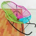 PE cane schaukelstuhl stuhl Gartenstuhl Runde Eisen Hof Stuhl-in Gartenstühle aus Möbel bei
