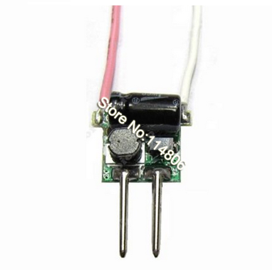 1pcs input DC 12V 1x3W High Power LED Driver Power Supply Pin Connector For 3W LED Light ...