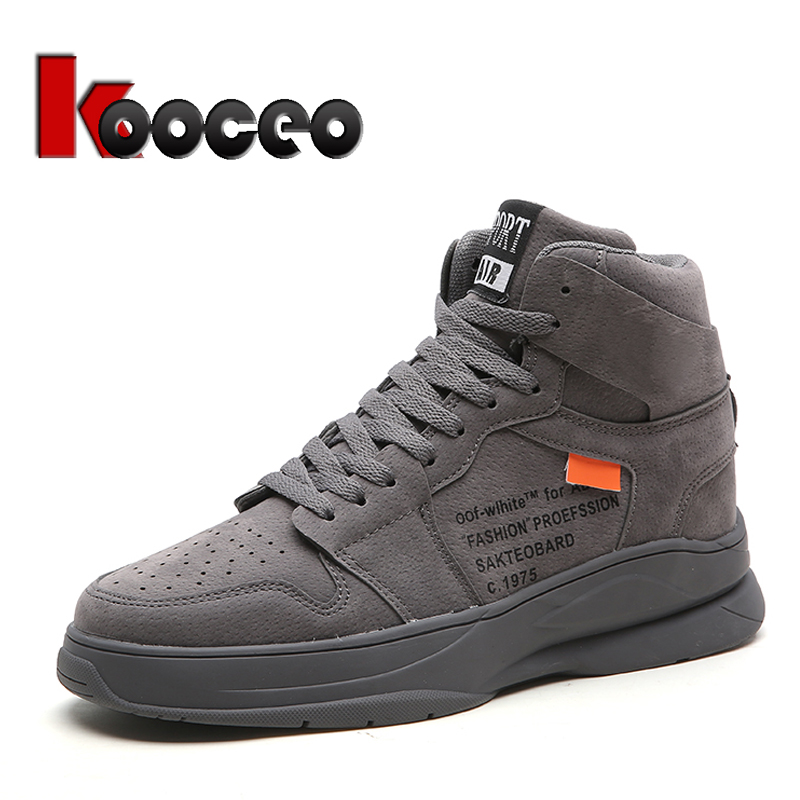 Kooceo Mens Low-top Lace Up Spring Leather Casual Flats Driving Doug Shoes
