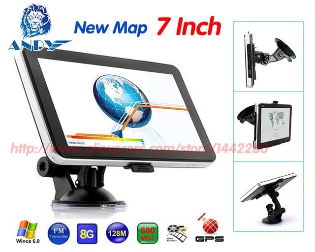 704 katarina 708 7inch Car Gps navigation FM/8GB/DDR 128M 800MHZ New Maps Europe+North America+Middle East+Natel gps navigator