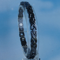 black fashion X design hi tech scratch proof magnetic ceramic bracelets bangles