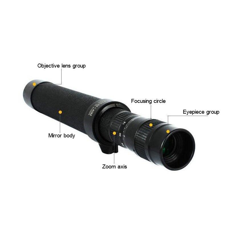 Girlwoman HD 8 24x40 Zoom Lens per Smartphone Monoculare Lente Para Celular Telescopio per il Telefono Mobile Della Macchina Fotografica Lenti BAK4