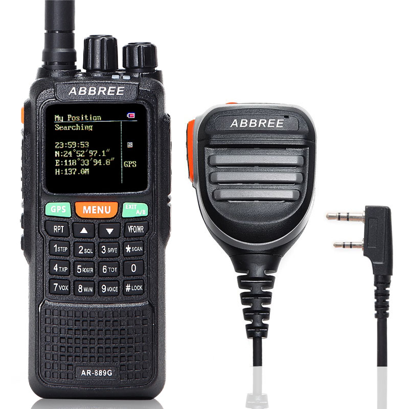 ABBREE AR 889G GPS 10Watts Powerful Walkie Talkie Cross Band Repeater 10Km Long Range Portable Ham CB Two Way Radio Transceiver-in Walkie Talkie from Cellphones & Telecommunications    1