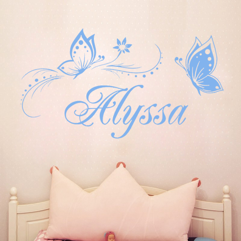 personalized name butterfly wall stickers for kids personalized name butterfly wall stickers for kids