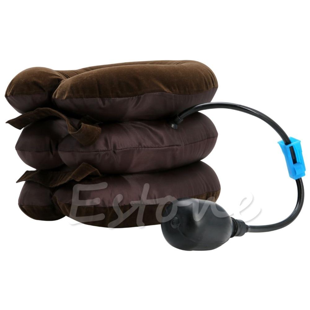 new arrival inflatable air neck shoulder neck pain relief comfort cervical traction neck massage pillow brace device Neck Pillow Air Cervical Neck Traction Soft Brace Device Unit for Headache Head Back Shoulder Neck Pain