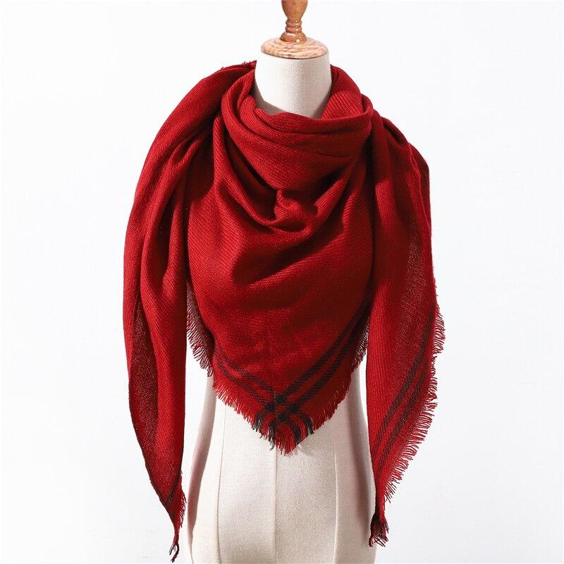 Designer 2019 Winter Triangle Scarf For Women Luxury Brand Palid Shawl Cashmere Scarves Warm Neck Blanket Lady Bandana Pashmina