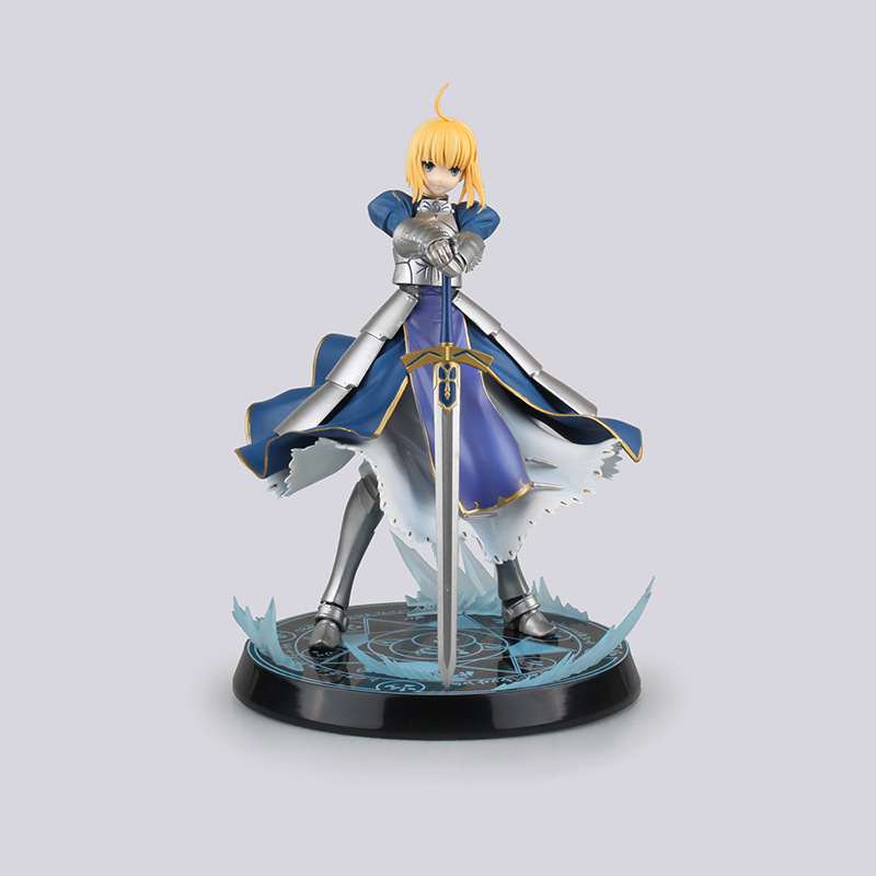 Anime Figure Fate Stay Night UBW Saber King of Knights PVC Action Figure Collectible Model Brinquedos Kids Toys Juguetes 26cm game figure 10cm darius the hand of noxus pvc action figure kids model toys collectible games cartoon juguetes brinquedos hot