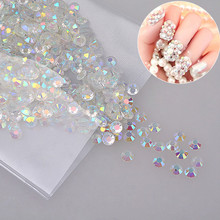 Transparent Crystal AB 2mm 1000pcs Flatback Resin Rhinestones DIY Phone Nail art,Glue on rhinestones,resin sticker for fabric