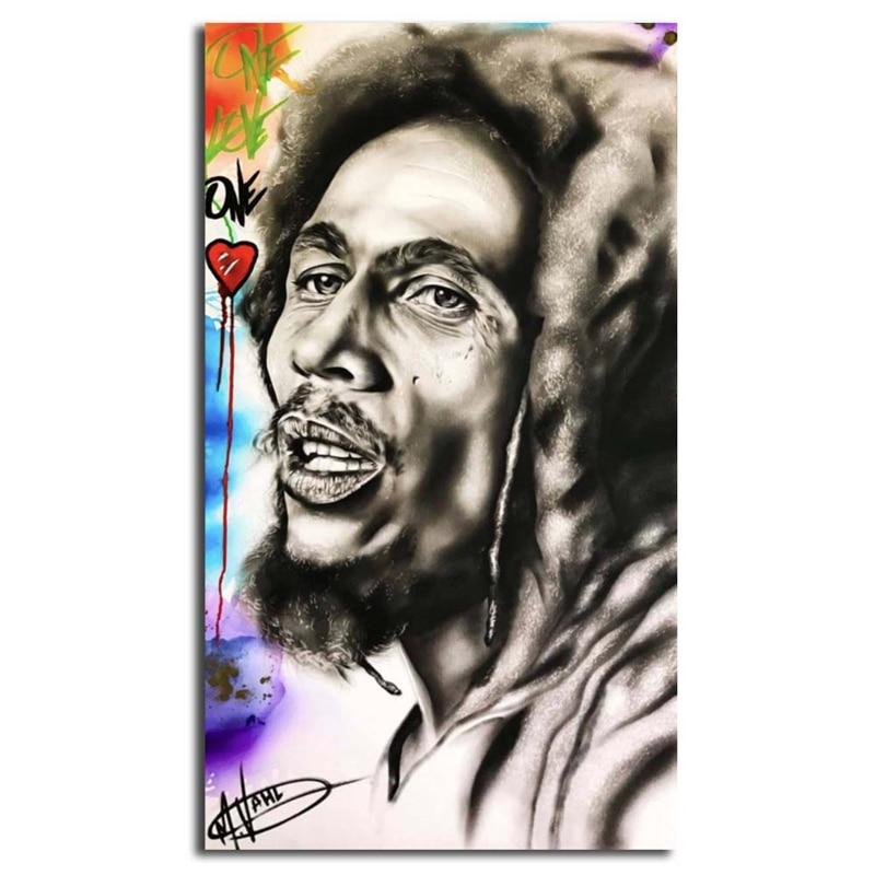 Reggae Bob Marley Hitam Putih Potret Kanvas Poster Cetak Dinding Seni Lukisan Dekoratif Gambar Modern Dekorasi Rumah Karya Seni Aliexpress