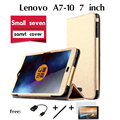 "Para lenovo a7-10 coldre caso tab 2 pequeno sete tablet de 7 ""trinta por cento de apoio especial Magnet Stand pu caso capa de couro"