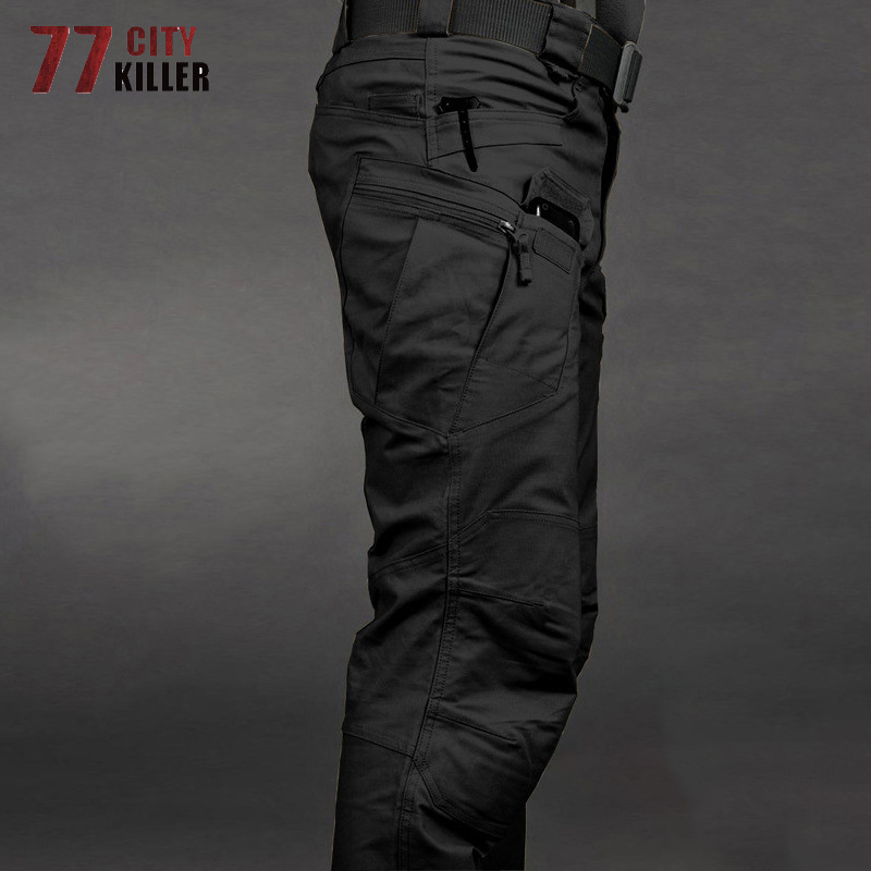 2019 Military Tactical Pants Waterproof Cargo Pants Men Breathable SWAT Army Solid Color Combat Trousers Work Joggers Size S-3XL