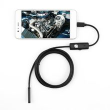 2018 7mm Lens 1/1.5/2m Android Endoscope Mini Camera Inspection Android Borescope 6 Led lights PC USB Endoskop Camera(China)