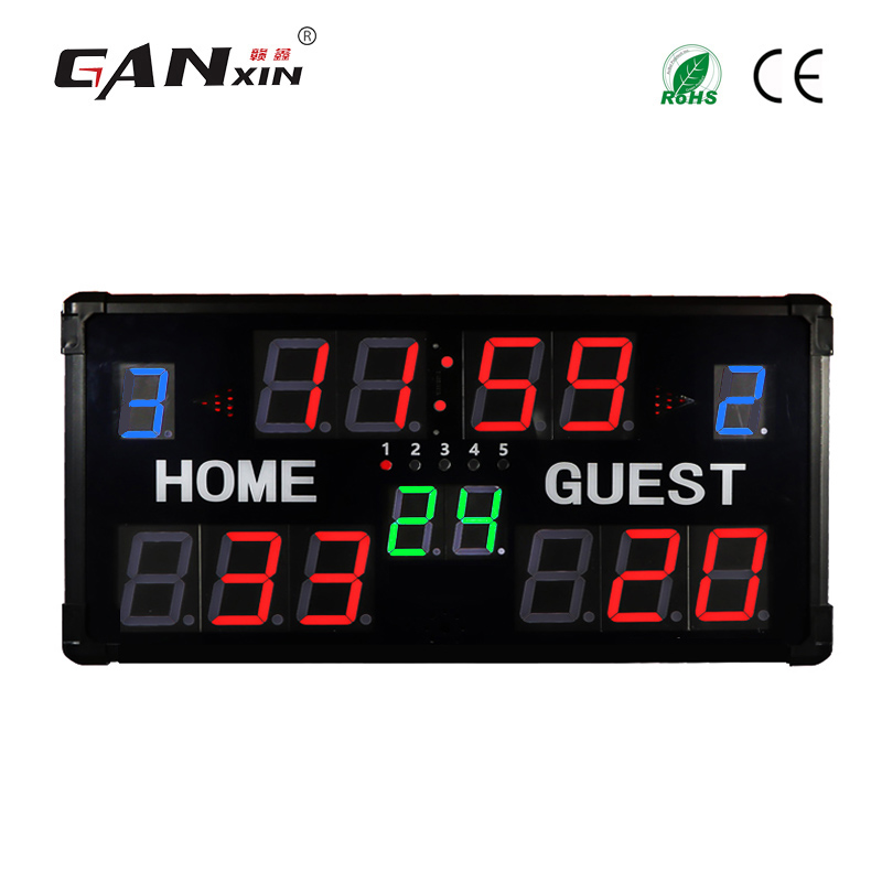 [Ganxin] Models adjustable multi-functional digital electronic scoreboard LED sports scoreboard
