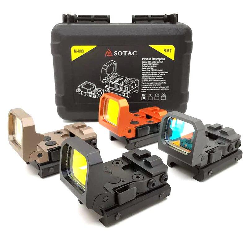 SOTAC-GEAR point rouge RMT vue réflexe optique portée RMR pliable tactique 9 niveaux luminosité holographique avec Rail de 20mm