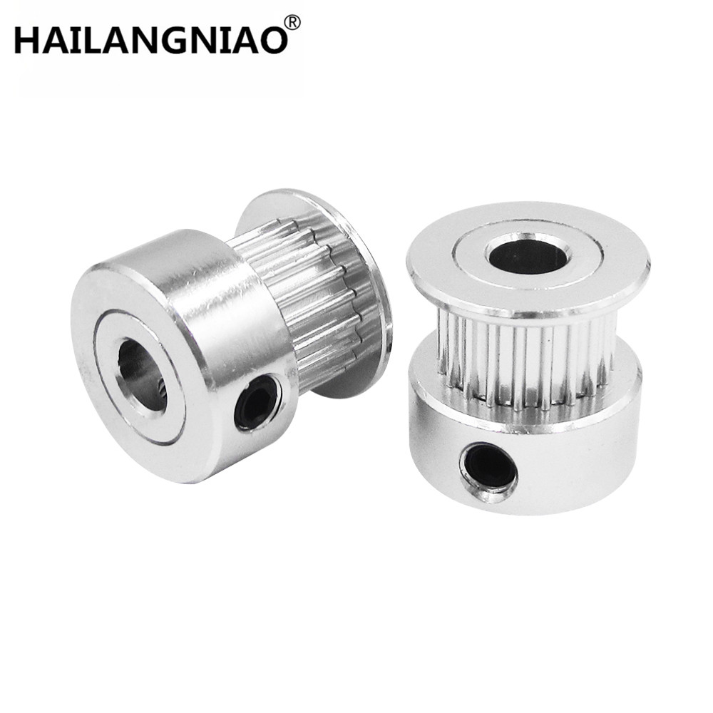 3D Printer Parts Accessory GT2 20teeth 20 Teeth Bore 5mm/8mm Timing Alumium Pulley Fit for GT2-6mm Open Timing Belt high quality 1pc 80 teeth gt2 timing pulley bore 5mm 14mm fit width 6mm 2gt timing belt toothed tooth cnc machine 3d printer