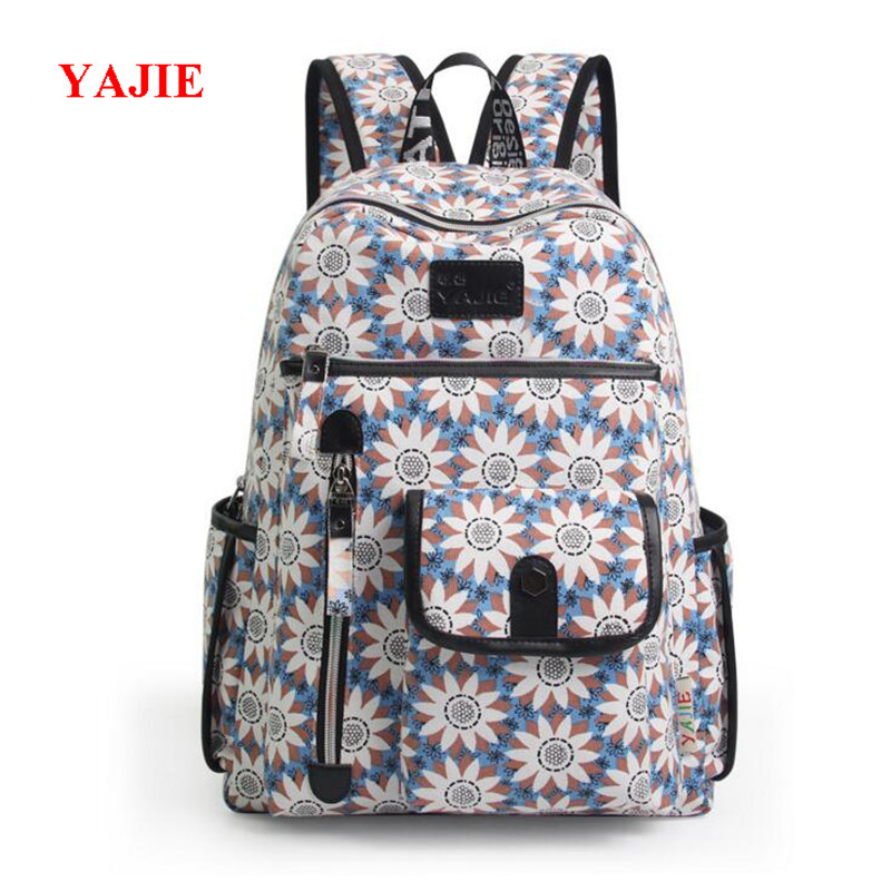 YAJIE Schoolbag For Middle School Students Large Capacity Printing Backpack Korean School Bags Casual 14 inch Laptop Bag L096 ...