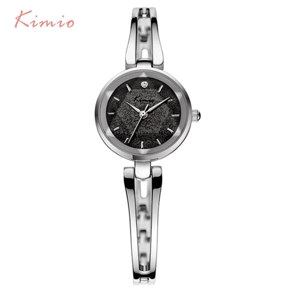 KIMIO Top Brand Luxury Women Quartz Watches Fashion Rose Gold Bracelet Watch Simple Ladies Dress WristWatch Relogio Feminino