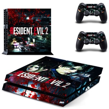 New PS4 Skin Sticker For PlayStation 4 Console and 2 Controllers PS4 Skin Sticker Vinyl Decal - Game Resident Evil 2 Remake